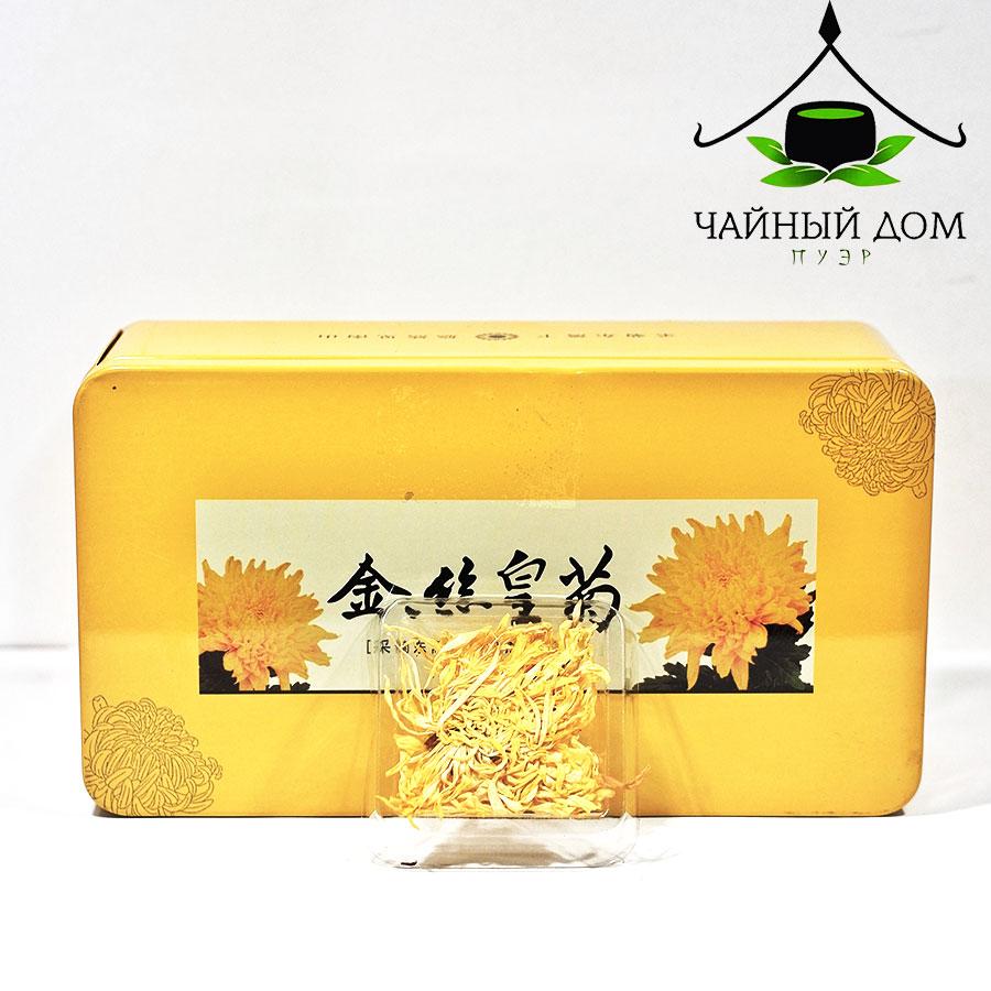 Пробник хризантемы в жёлтой коробке Tea house puer Product